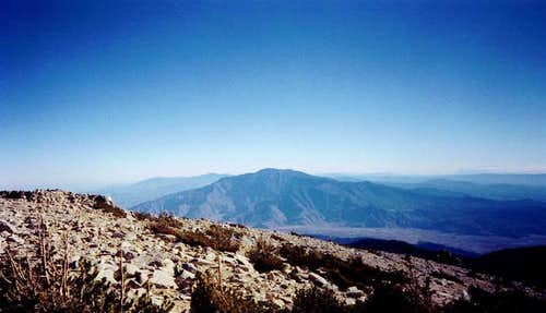 View from summit, looking...
