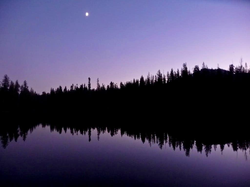 Summit Lake During Evening