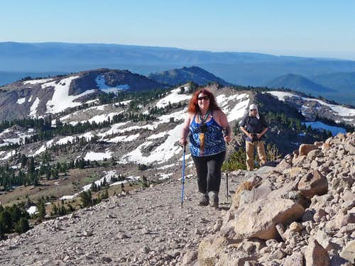 Bearqueen Hiking up Lassen