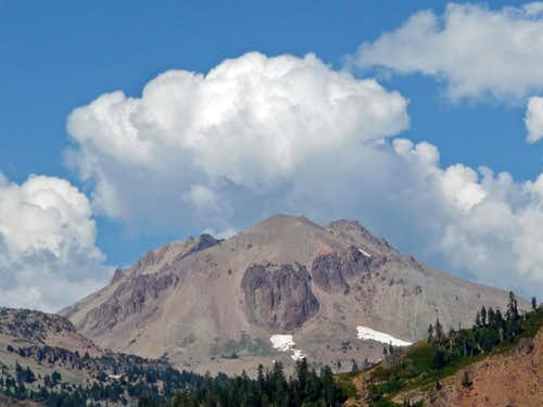 Lassen Peak with Clouds