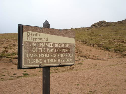 Devils Playground Sign