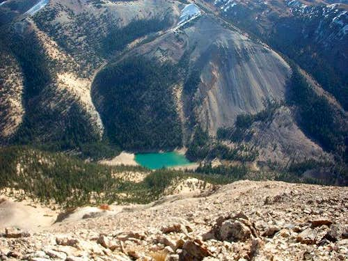 Blue Lake as seen from the...