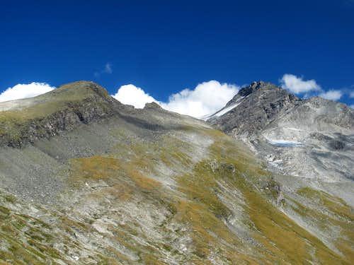 Grauleitenspitze (2893m) and Ankogel (3246m)