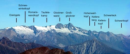 almost the whole Glockner...