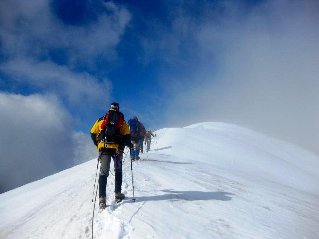 Hohe Riffl - on the final part of the NE ridge