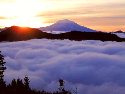 Sunrise over Mount Adams from...