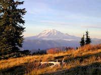 Mount Rainier at sunset from...