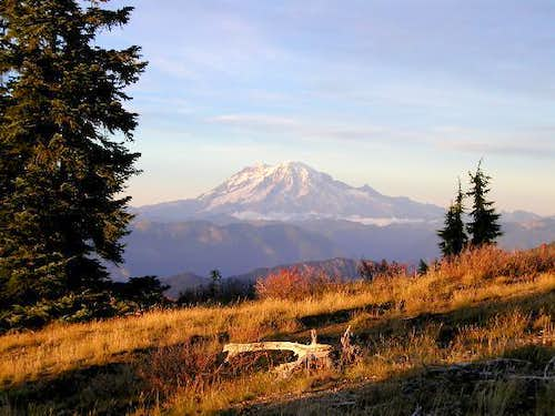 Mount Rainier at sunset from...