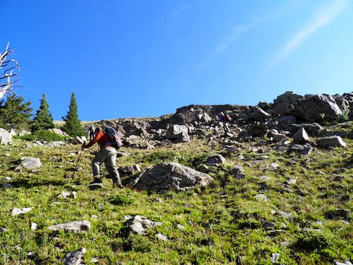 Hiking near the Boulder Field