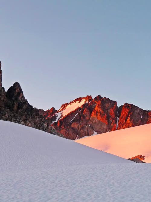 Alpenglow on Mount Logan