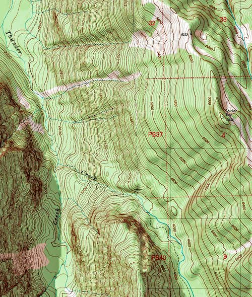 Thunder Creek Topographic Map