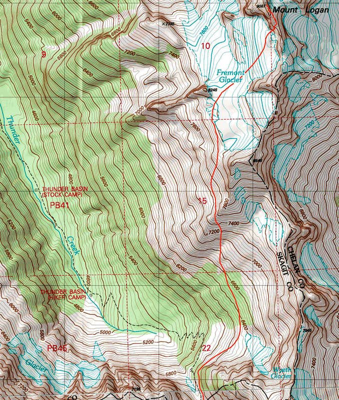 Mount Logan Topographic Map Photos Diagrams Topos SummitPost - Topographic map of us mountain ranges
