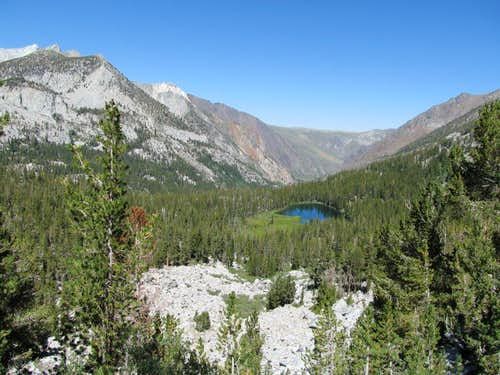 Looking down on Grass Lake