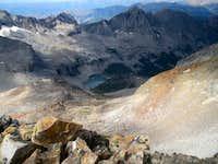 Kane Lake from summit of Abel Peak