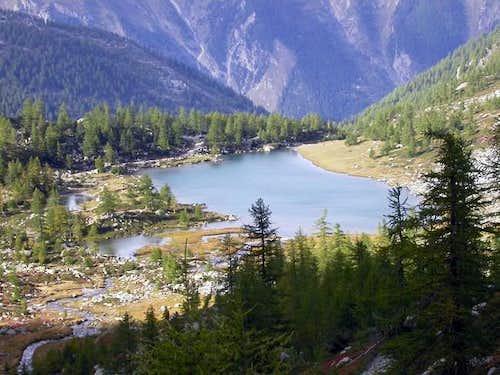il lago d'Arpy (2066 m.)