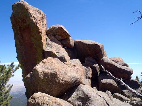 San Luis summit plateau outcrop