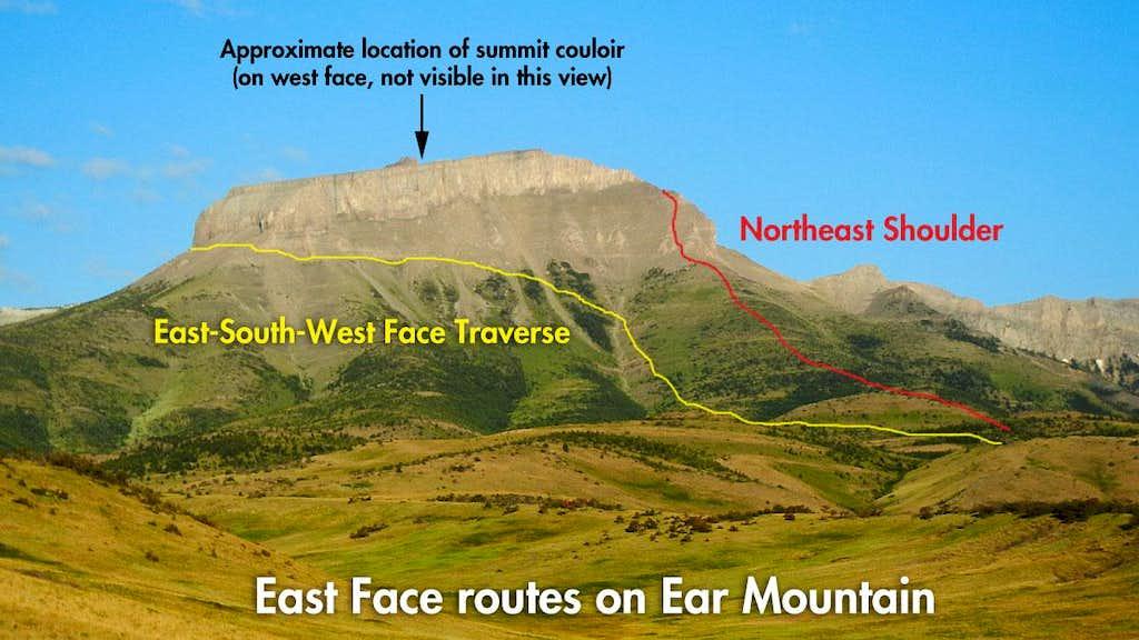 Ear Mountain East Face Routes