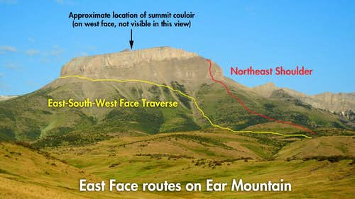 Ear Mountain East Face Routes