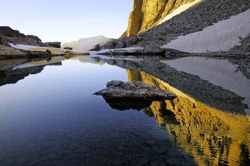 Borah lake reflection.