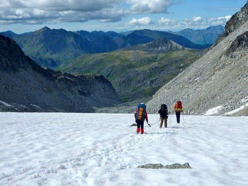 Walking Down Glacier to Camp 2