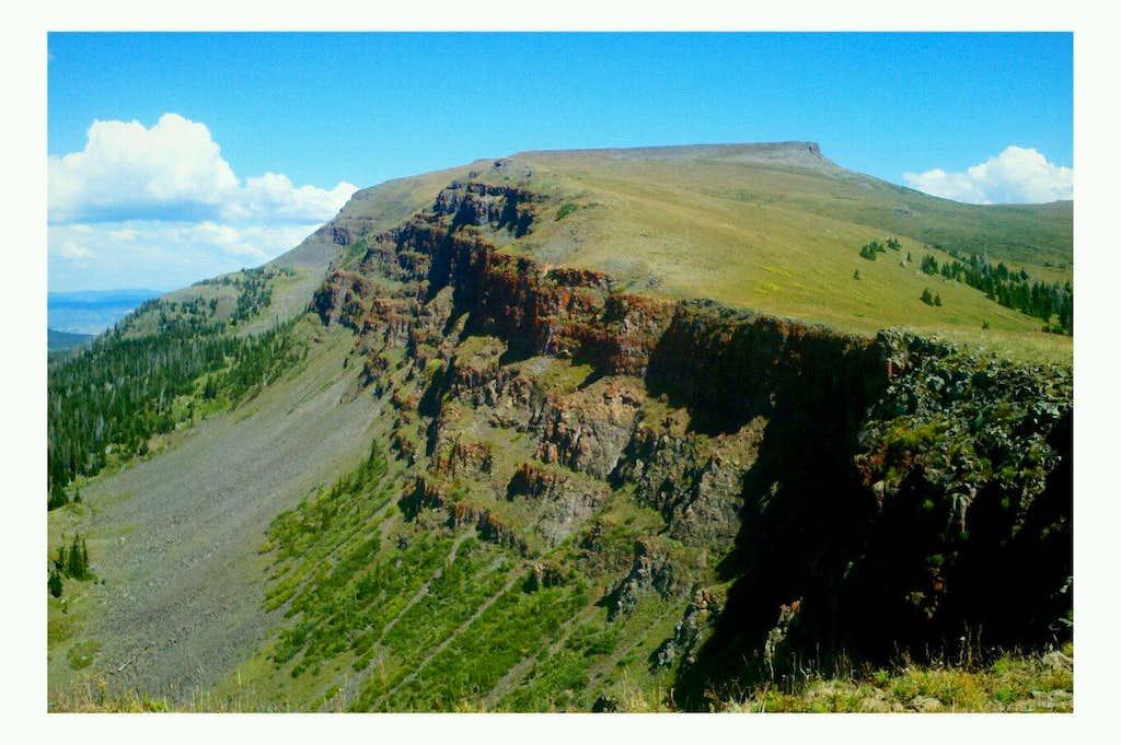 Flat Top Mountain Contours