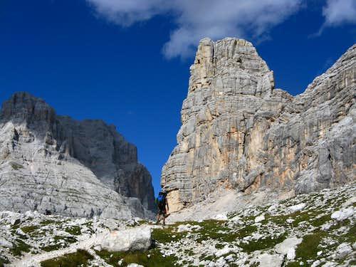 Torre dei Sabbioni from Forcella Grande