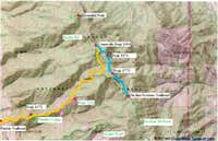 Area Map Centerville Peak