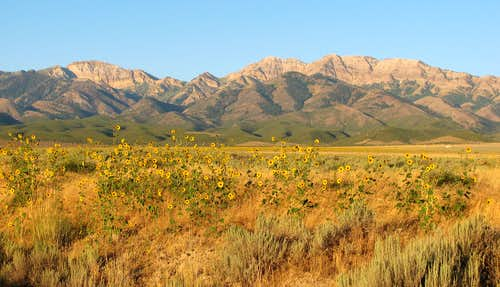 Stansbury mountains from Grantsville