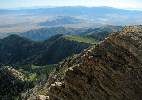 View east from Deseret Peak