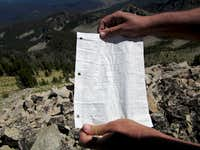 False summit register page