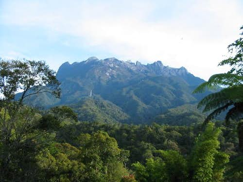 The Giant Kinabalu above the...