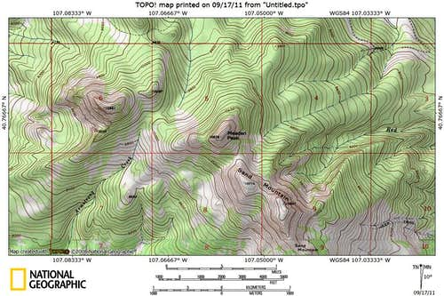 Meaden Peak 7.5 Minute Map