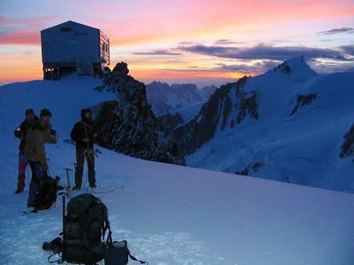 Vallot Hut at dawn - 17 Jun...