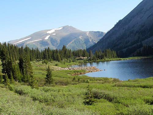 Bushes, Grizzly Lake & Peak 13078 ft