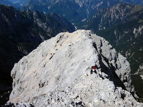 Crossing over the NW ridge