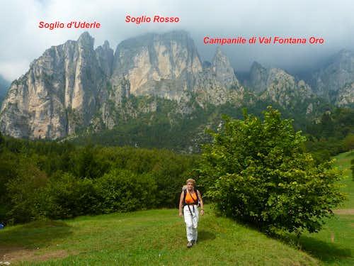 Campanile di Val Fontana d'Oro, Soglio Rosso and Soglio d'Uderle