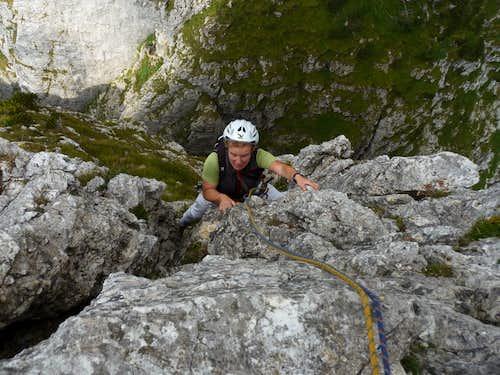 Climbing Bortolan-Padovan Route