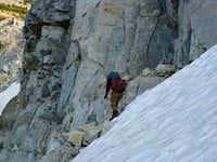 Descending the Eagle Cap snowfield