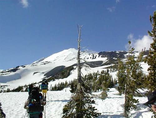Approaching timberline after...