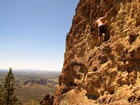 Soloing Squaw Rock