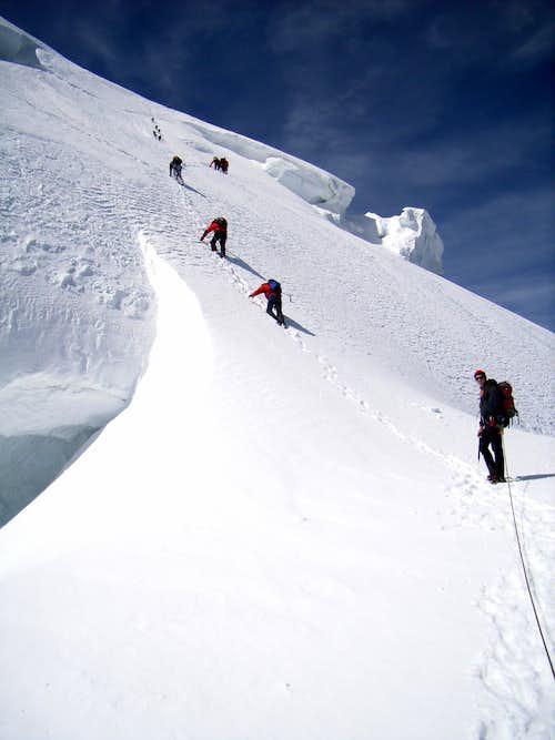 Climbing Mont Blanc du Tacul's normal route