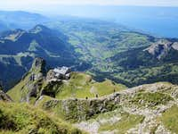 Refuge at Dent d\'Oche overlooking Lac Leman