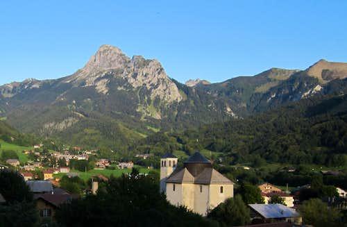 Dent d'Oche form the village of Bernex