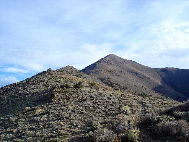 The ridge line we walked to...