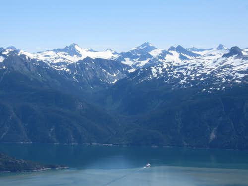 Looking over the Chilkoot Inlet