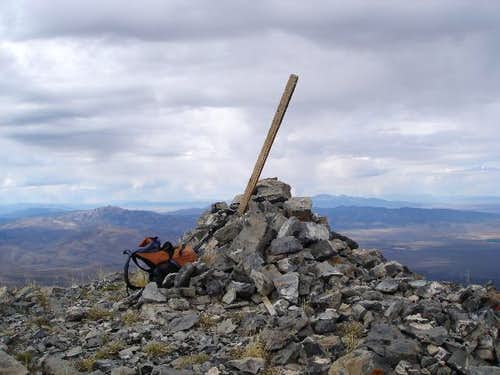Diamond Peak summit cairn...