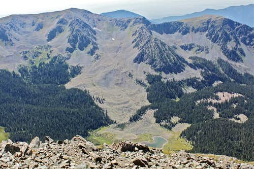 View from the top of Wheeler peak