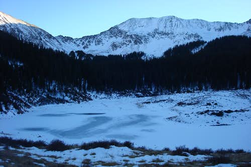 Frozen William lake