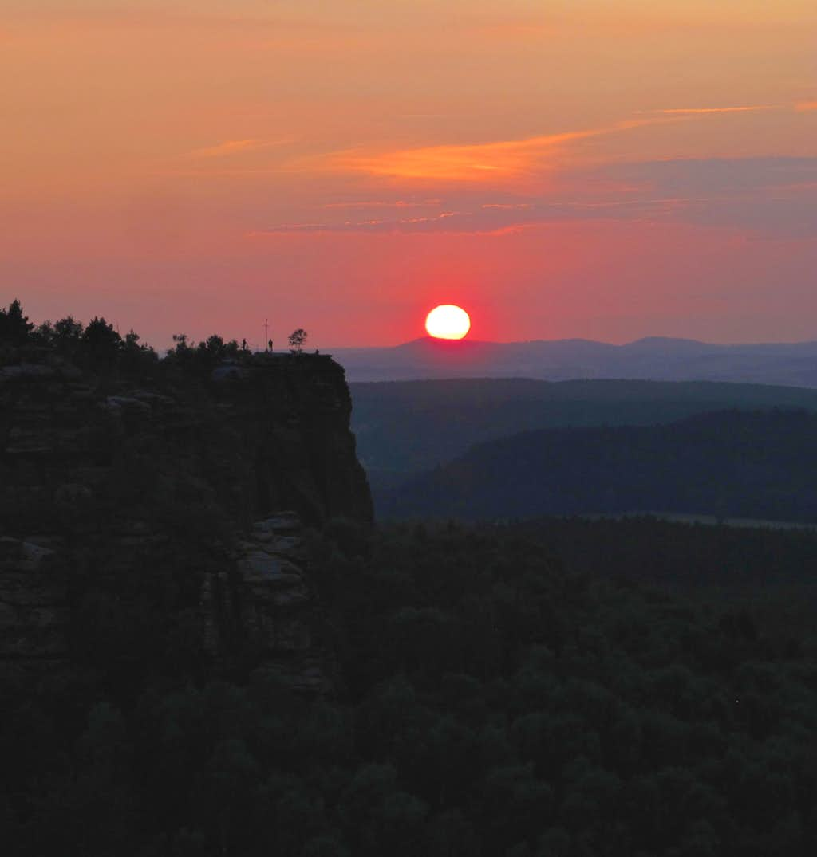 Sunset behind the Gohrisch