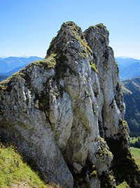 One of the many rock outcrops on Dent d\'Oche